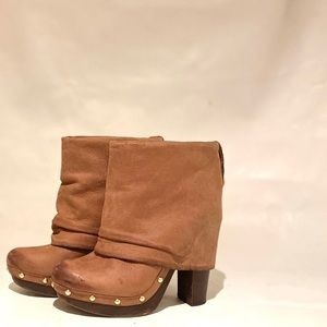 Vince Camuto CoCo Brown Leather Fold Over Boot